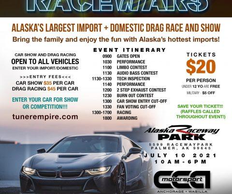 AK Racewars 2021 – Alaska Raceway Park – July 10!